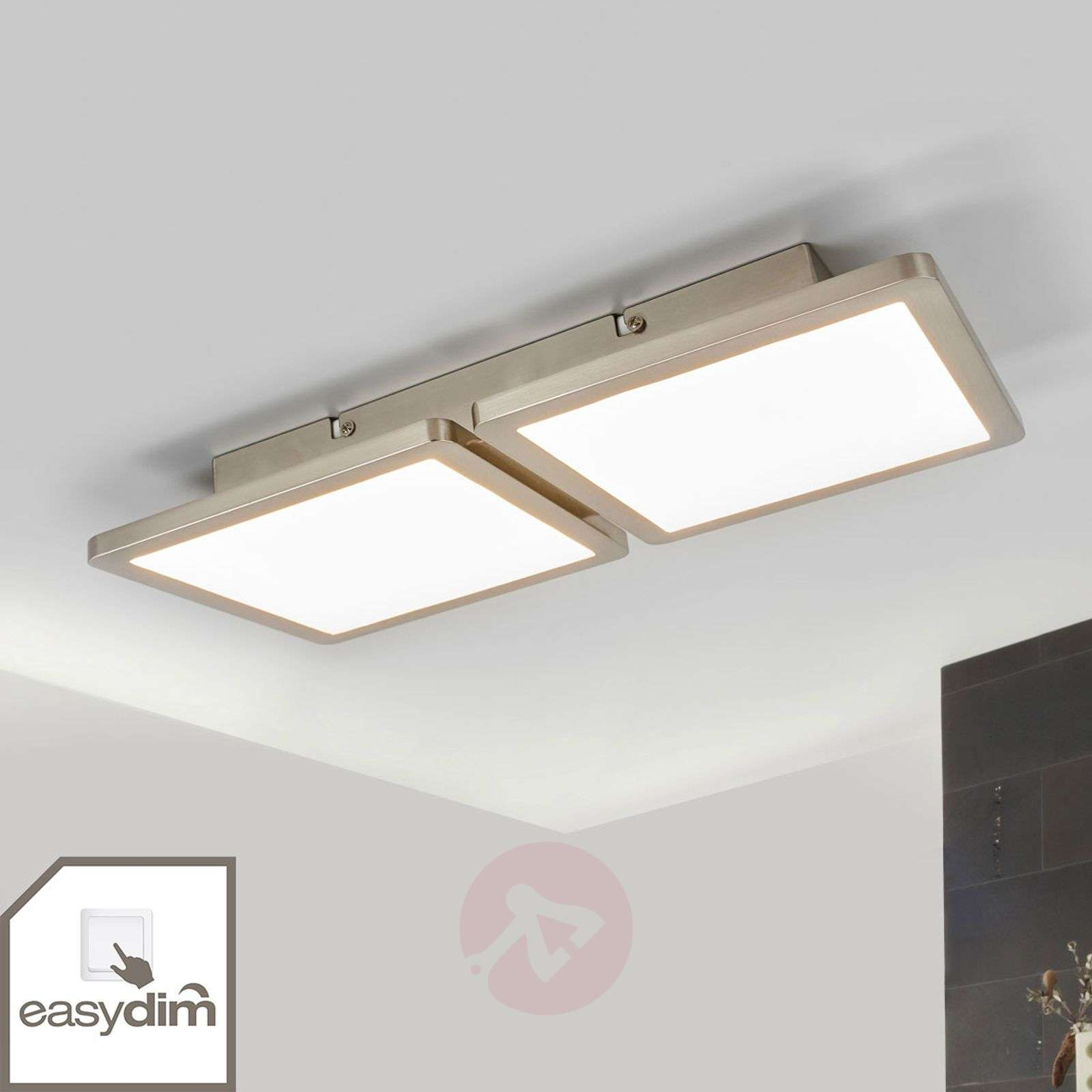 Plafoniere Led Garage : Acquista aileen plafoniera led a 2 luci con easydim lampade.it