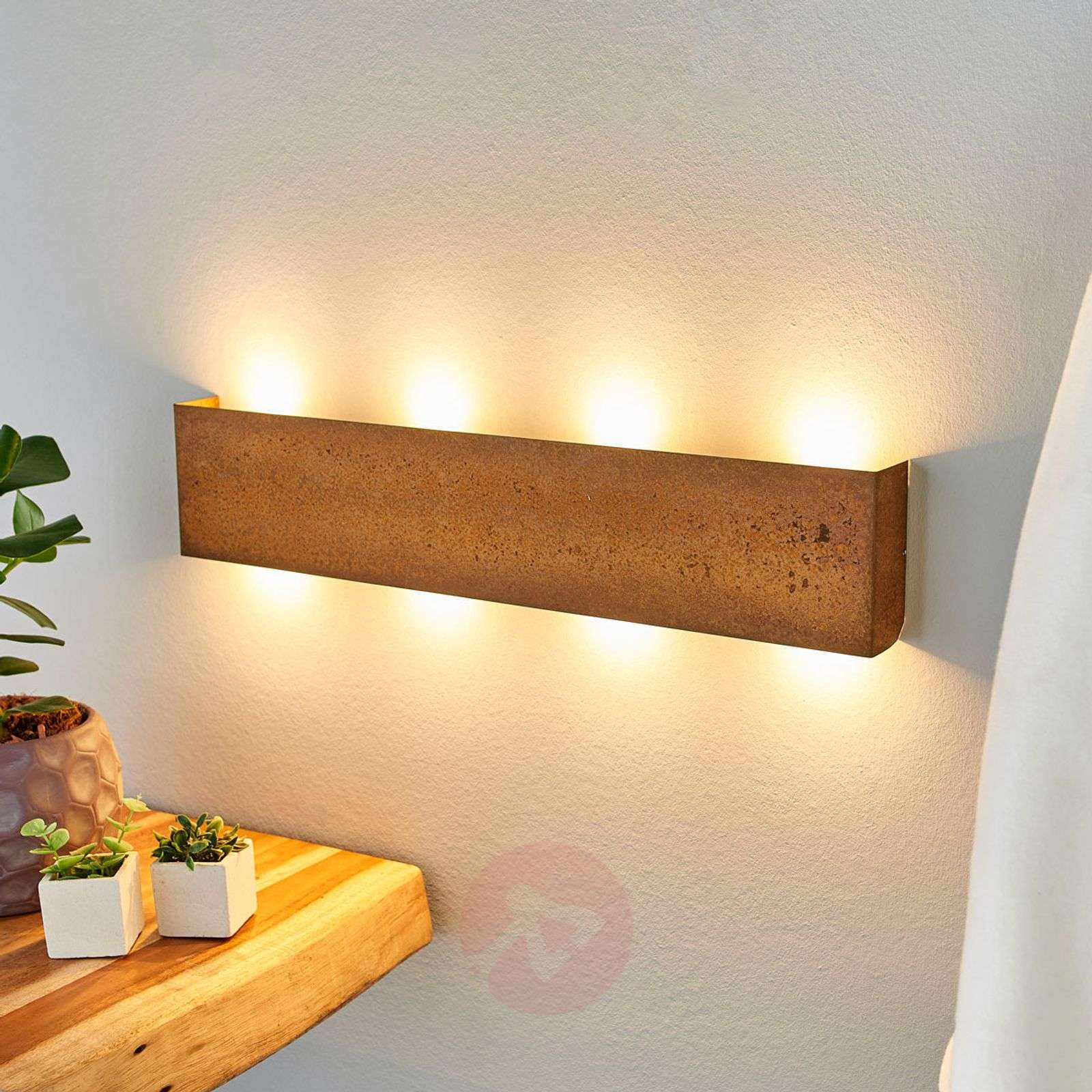 Plafoniera Da Esterno Ruggine : Acquista applique a led maja dimmerabile effetto ruggine lampade.it