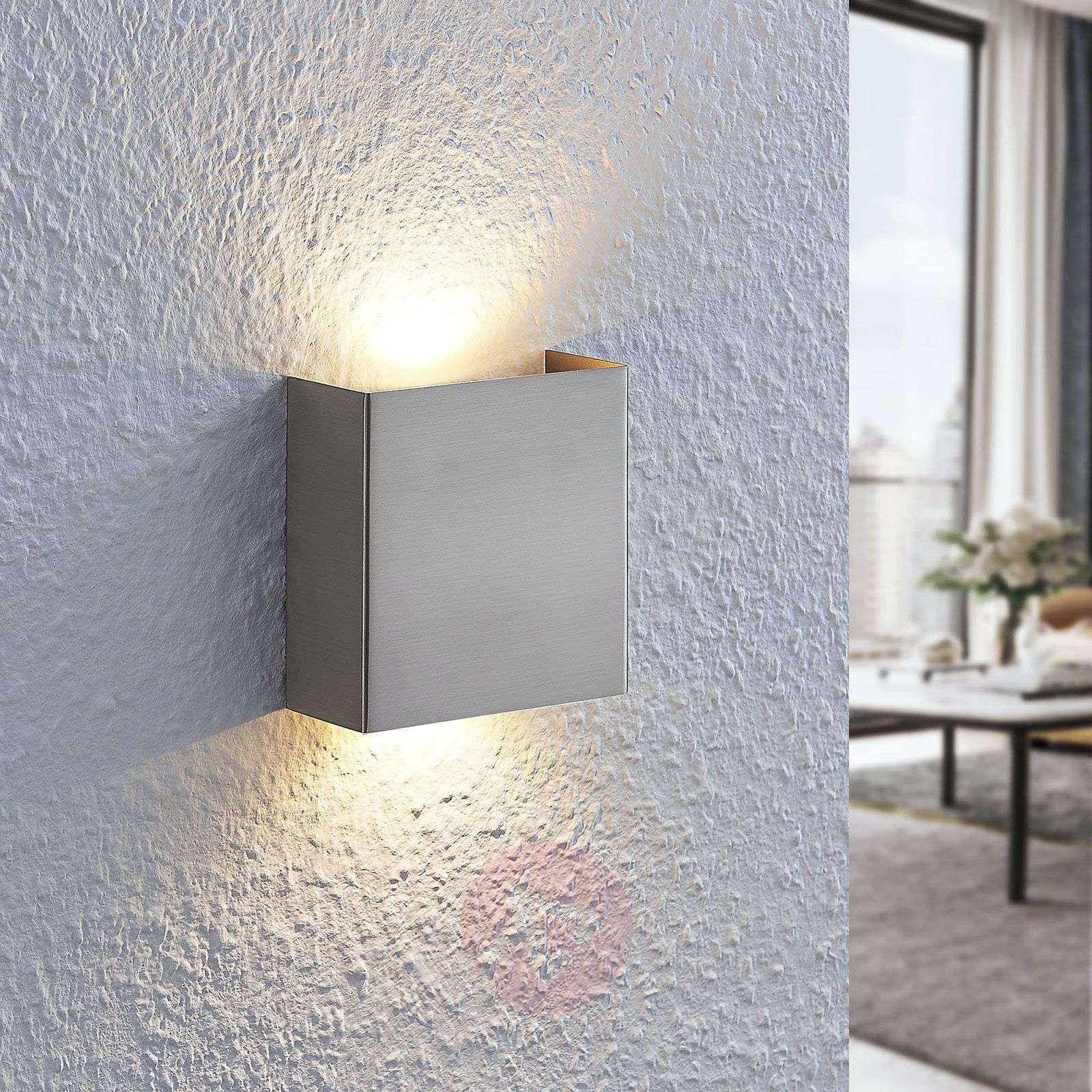 Applique a LED Manon, nichel satinato, 10,5 cm-9633045-02