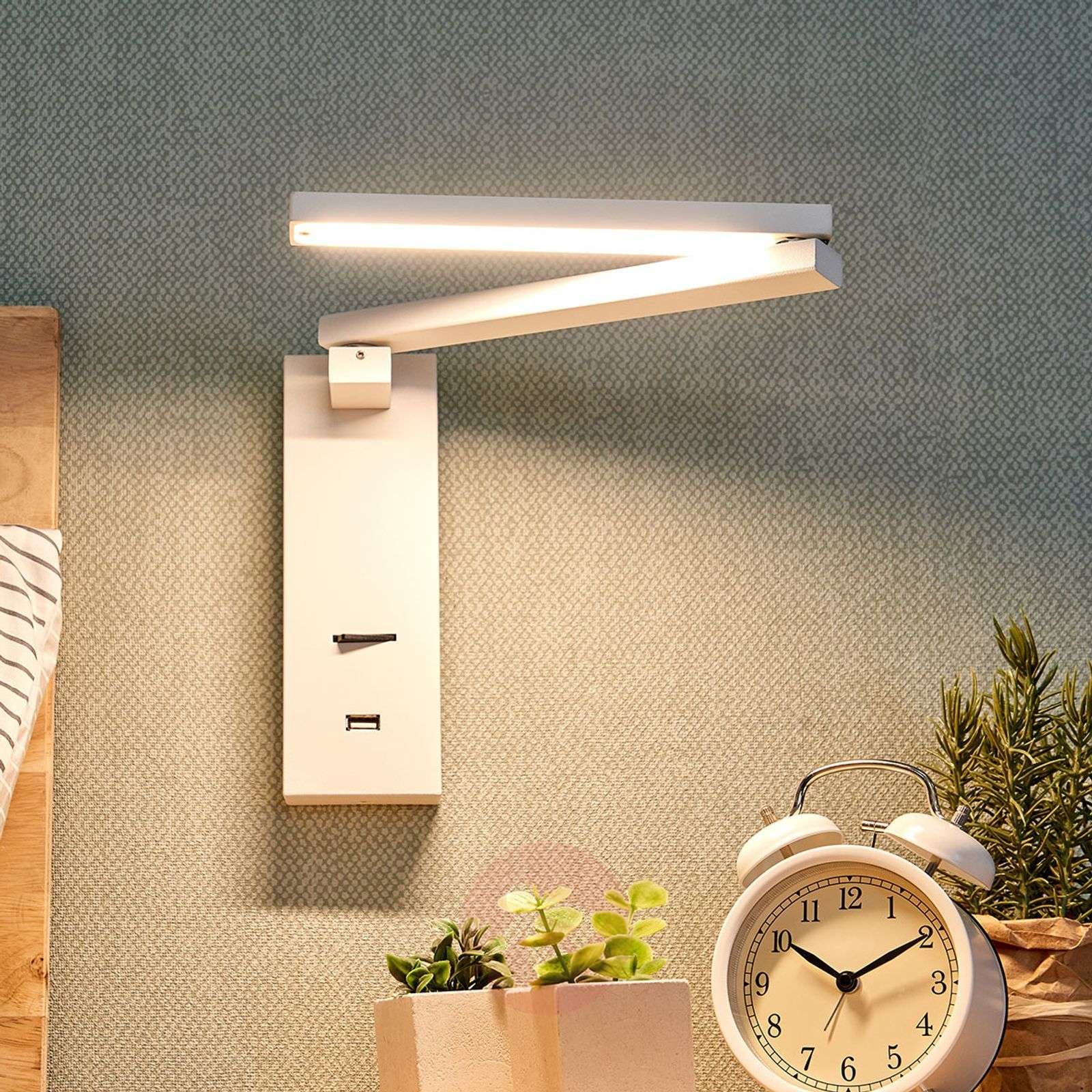 Acquista applique a led salloa con interruttore lampade