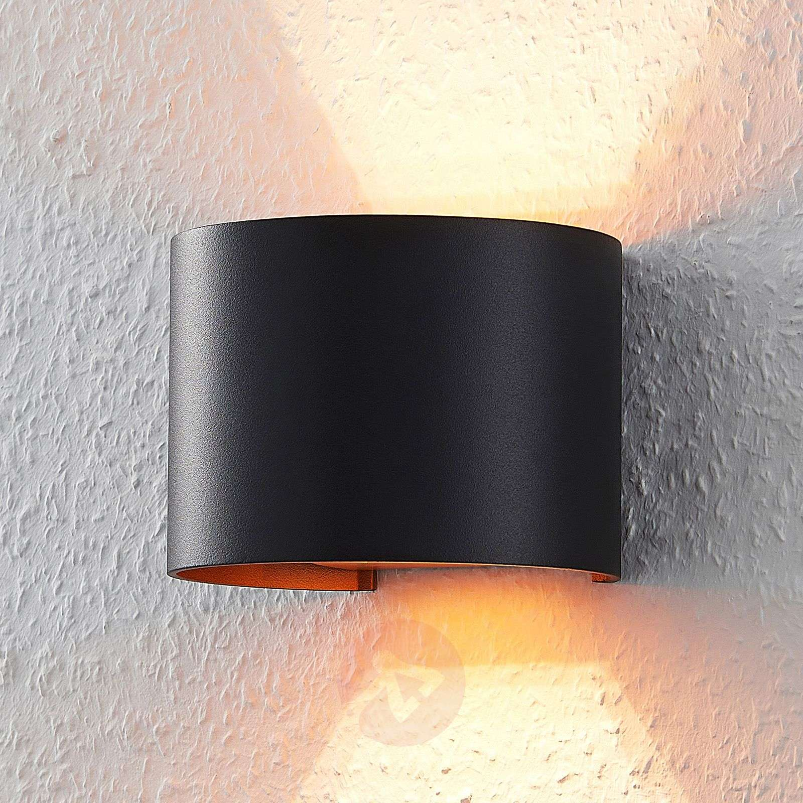 Acquista applique a led zuzana nero e oro g lampade