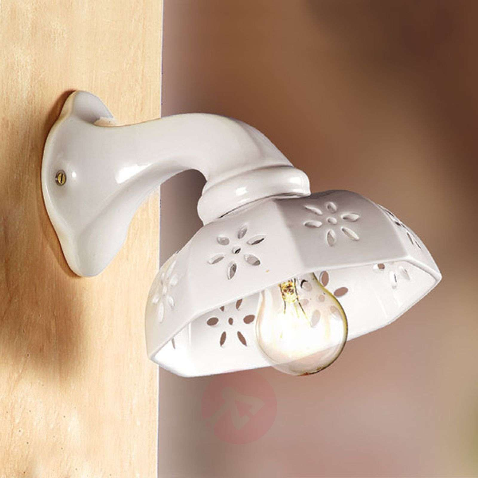 Acquista applique di ceramica bianca scodellina lampade.it