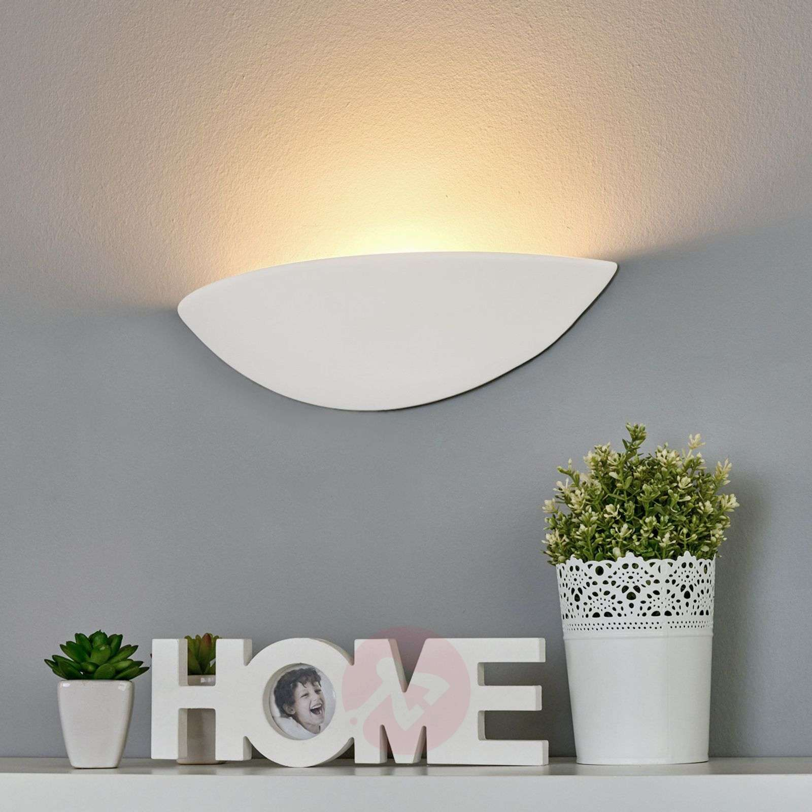 Applique LED in gesso PALE, verniciabile-8570466-01