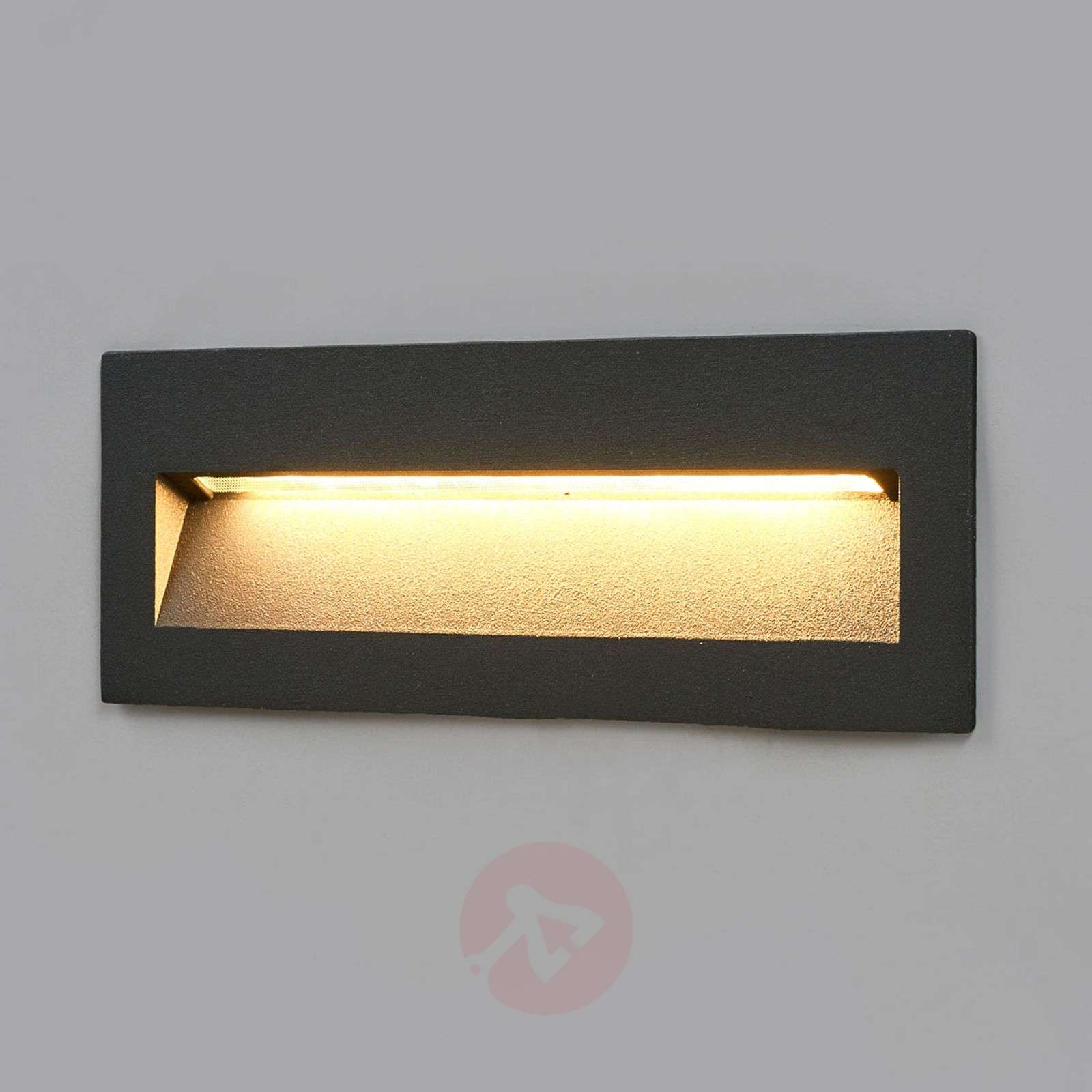 Acquista applique led loya grigio scuro incasso in esterni