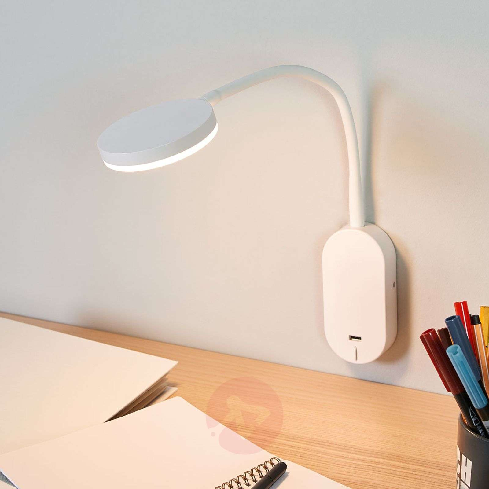 Acquista applique led milow con braccio flex e porta usb lampade.it