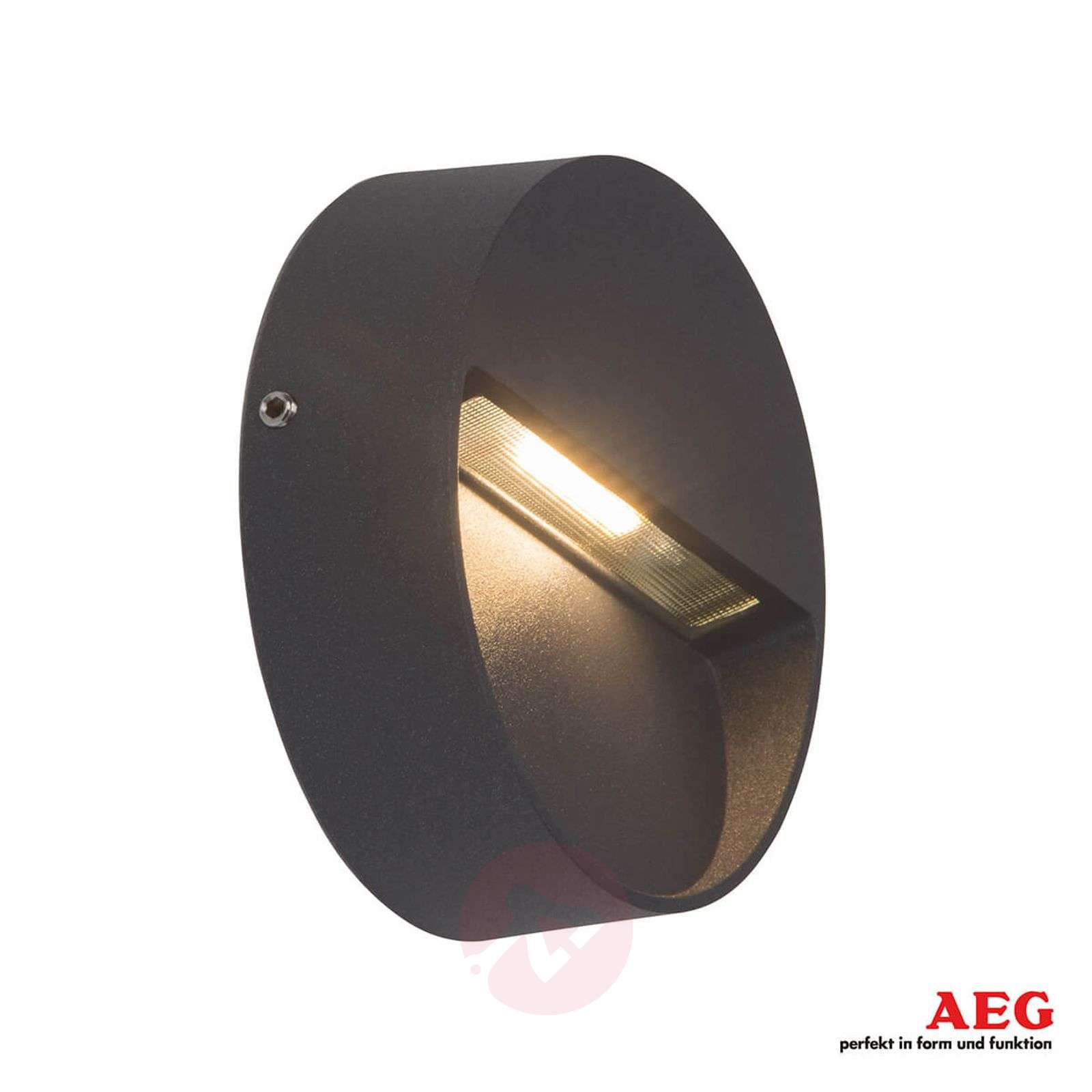 Acquista applique per esterni led front tonda antracite lampade