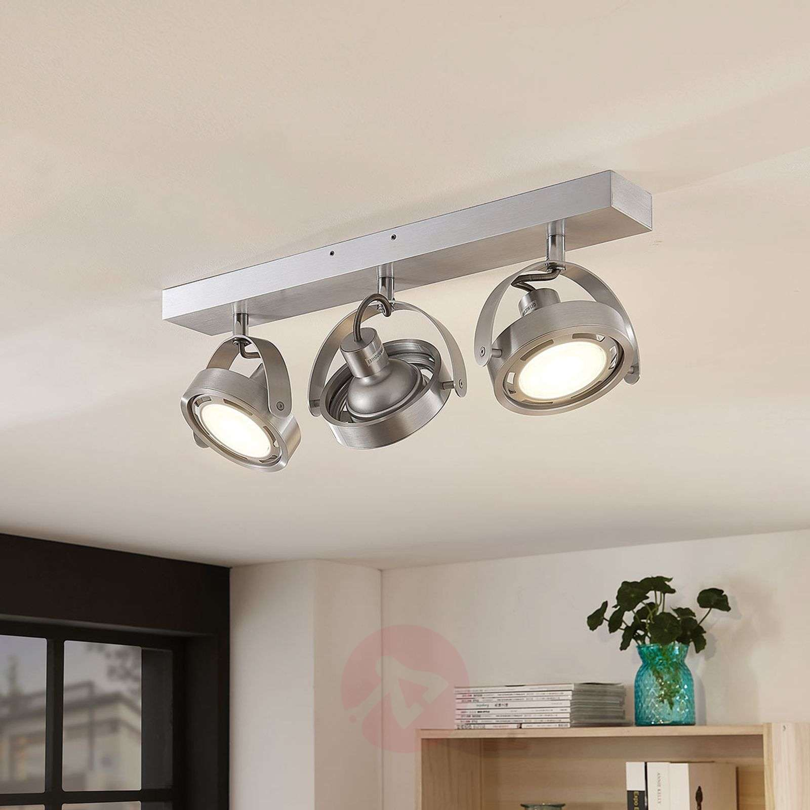 Faretto LED Munin dimmerabile, alluminio, 3 luce-9621880-02