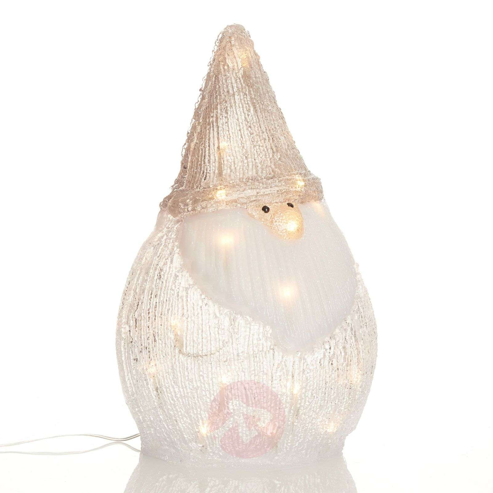 Figura luminosa LED Babbo Natale in acrilico-5527175-01