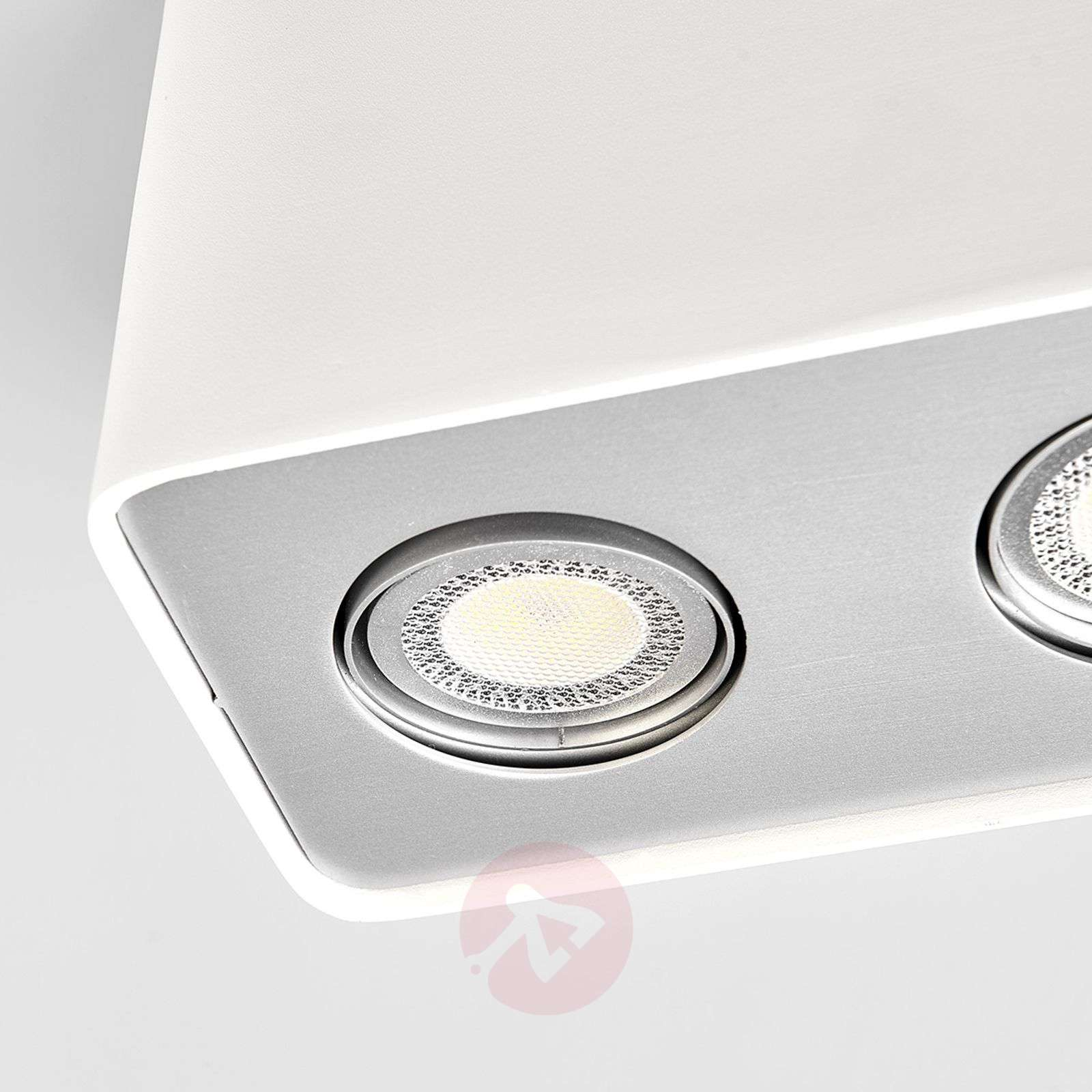GU10 LED downlight Gilian 3 luci, angolare bianco-9975007-01