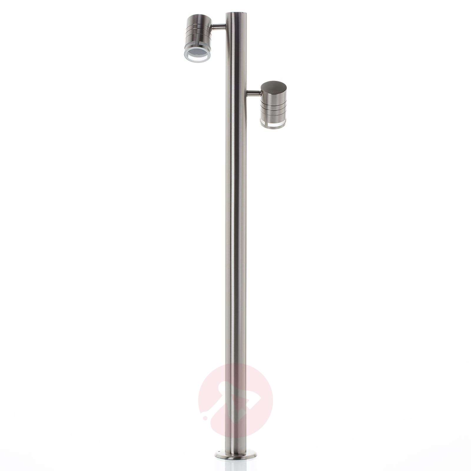 Lampioncino in acciaio inox Zilly II a 2 luci-2501417-04