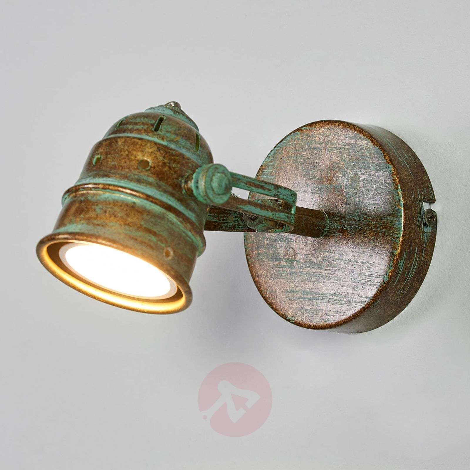 Lampade Rustiche In Rame : Acquista leonor spot led in color rame ossidato lampade.it