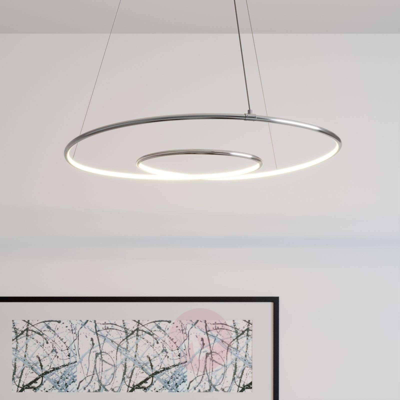 Lindby Lucy sospensione LED, 70cm, cromo-9639142-02