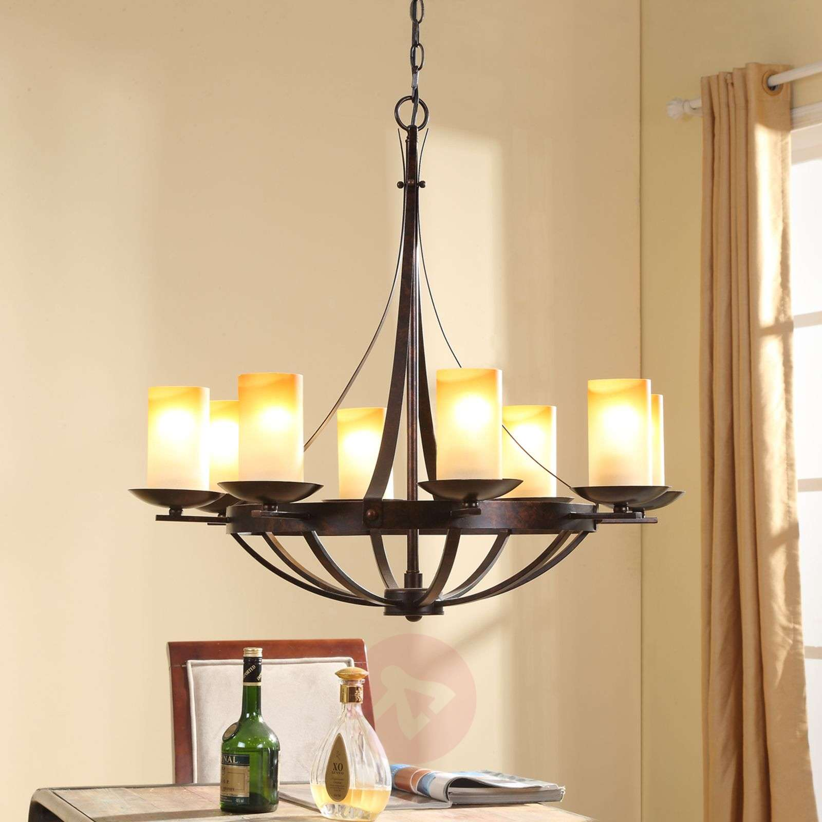 Lampadario Rustico Moderno : Acquista luke lampadario rustico color ruggine lampade.it