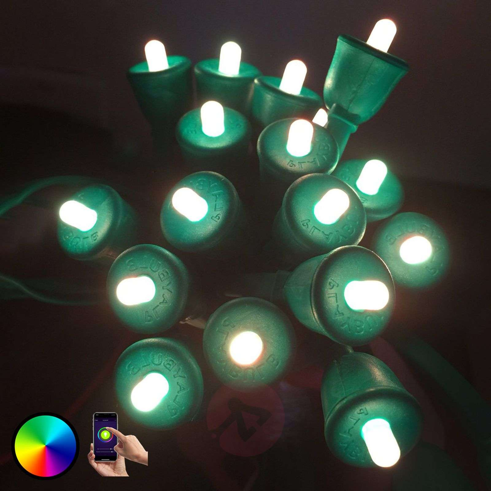 MiPow Playbulb String catena LED 20 m, verde-5543027-010