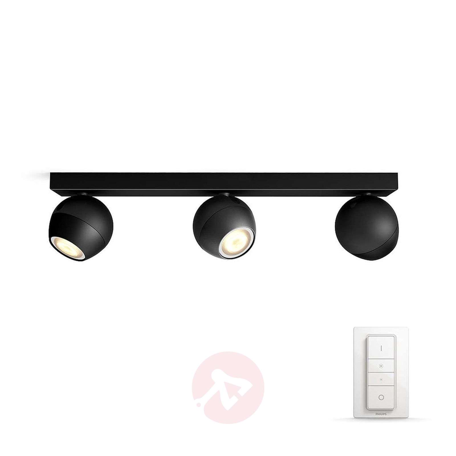 Philips Hue Buckram triplo spot LED nero-7532053-01