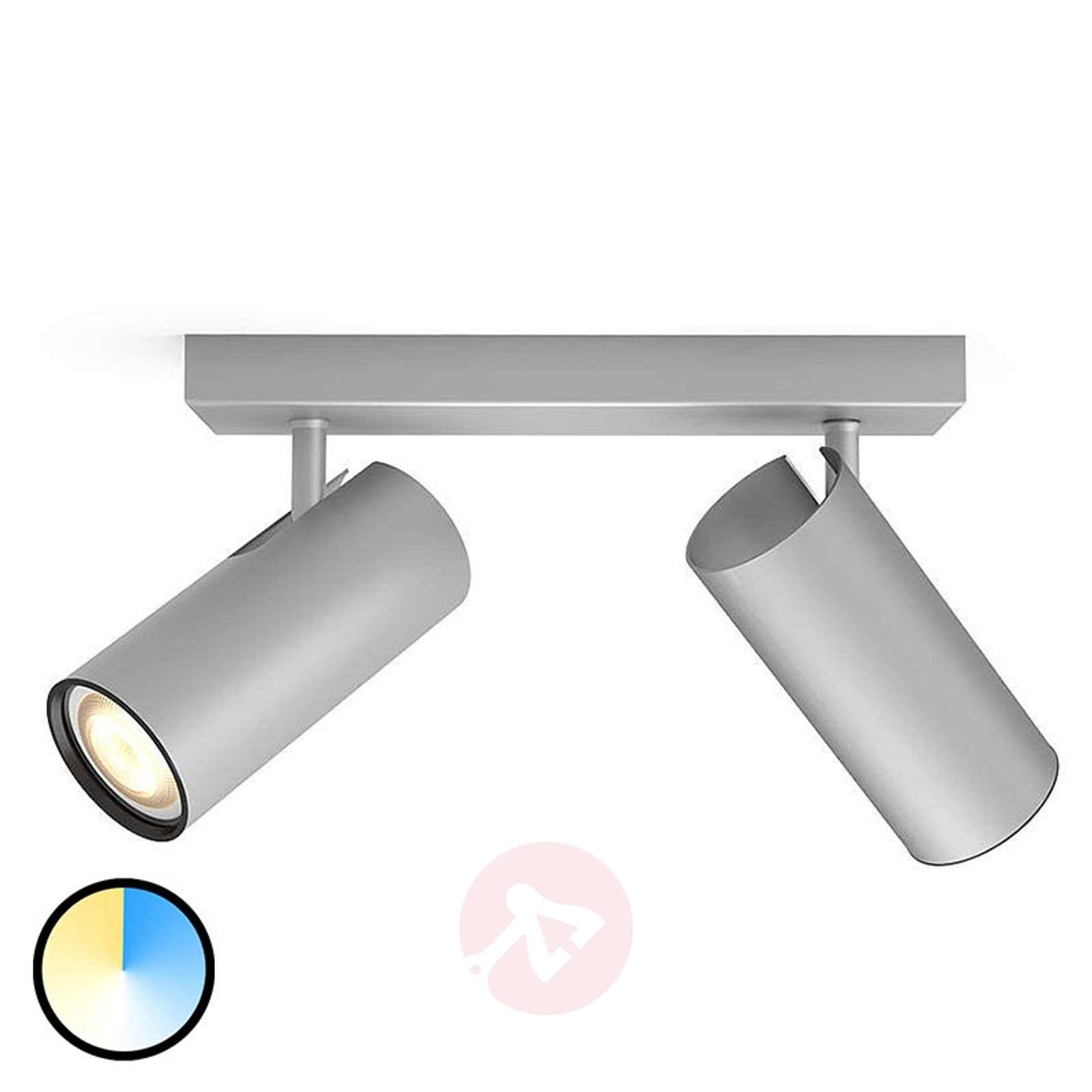 Philips Hue Buratto spot LED alluminio 2 luci-7532043-01