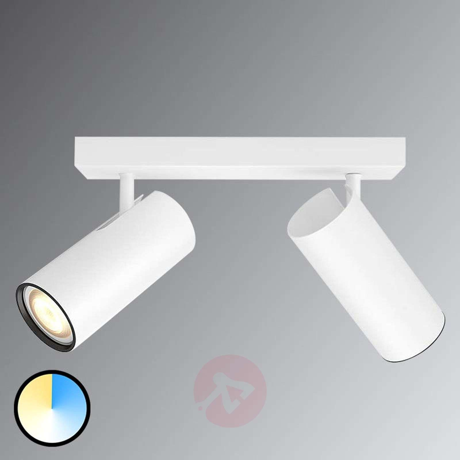 Philips Hue Buratto spot LED bianco 2 luces dimmer-7532042-01