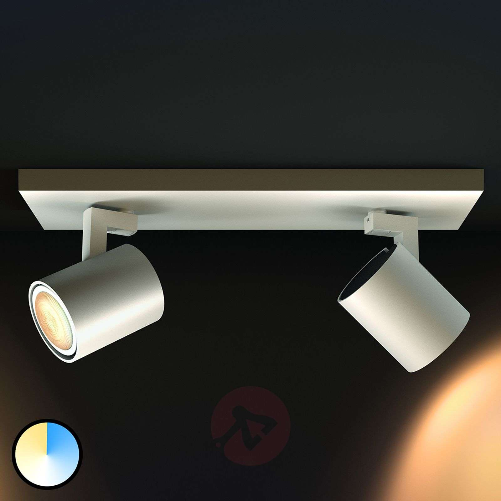 Philips Hue Runner 2 luci con dimmer, bianco-7531891-01