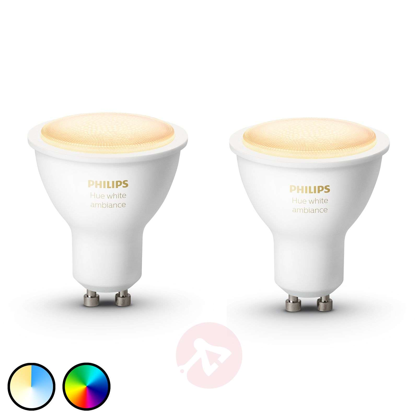 Philips Hue White Ambiance 5 W GU10 LED, set da 2-7534132-01