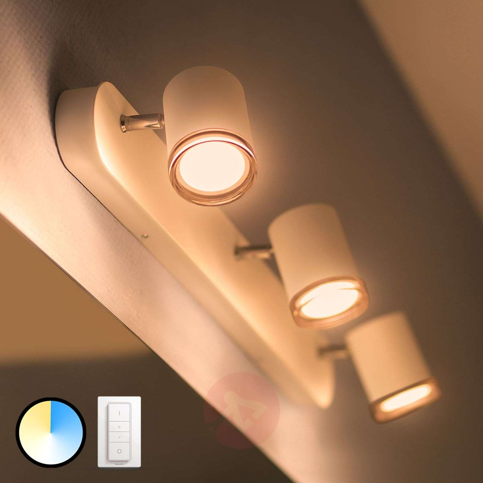 Philips Hue White Ambiance Adore spot LED 3 luci-7534073-02