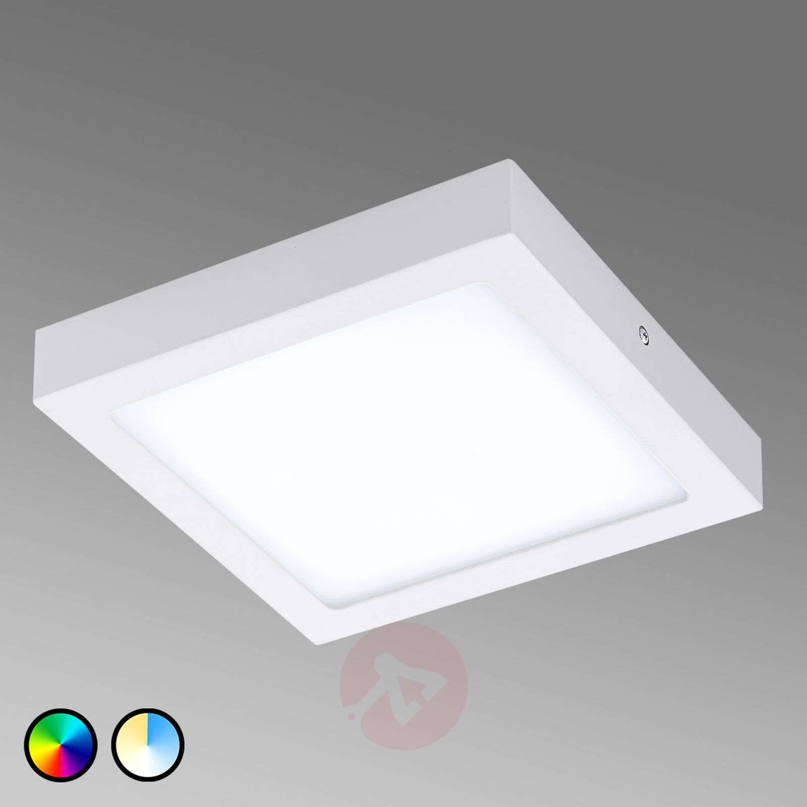 Plafoniera Eglo Led : Eglo corliano ceiling lamp squared led in inox steel and crystal
