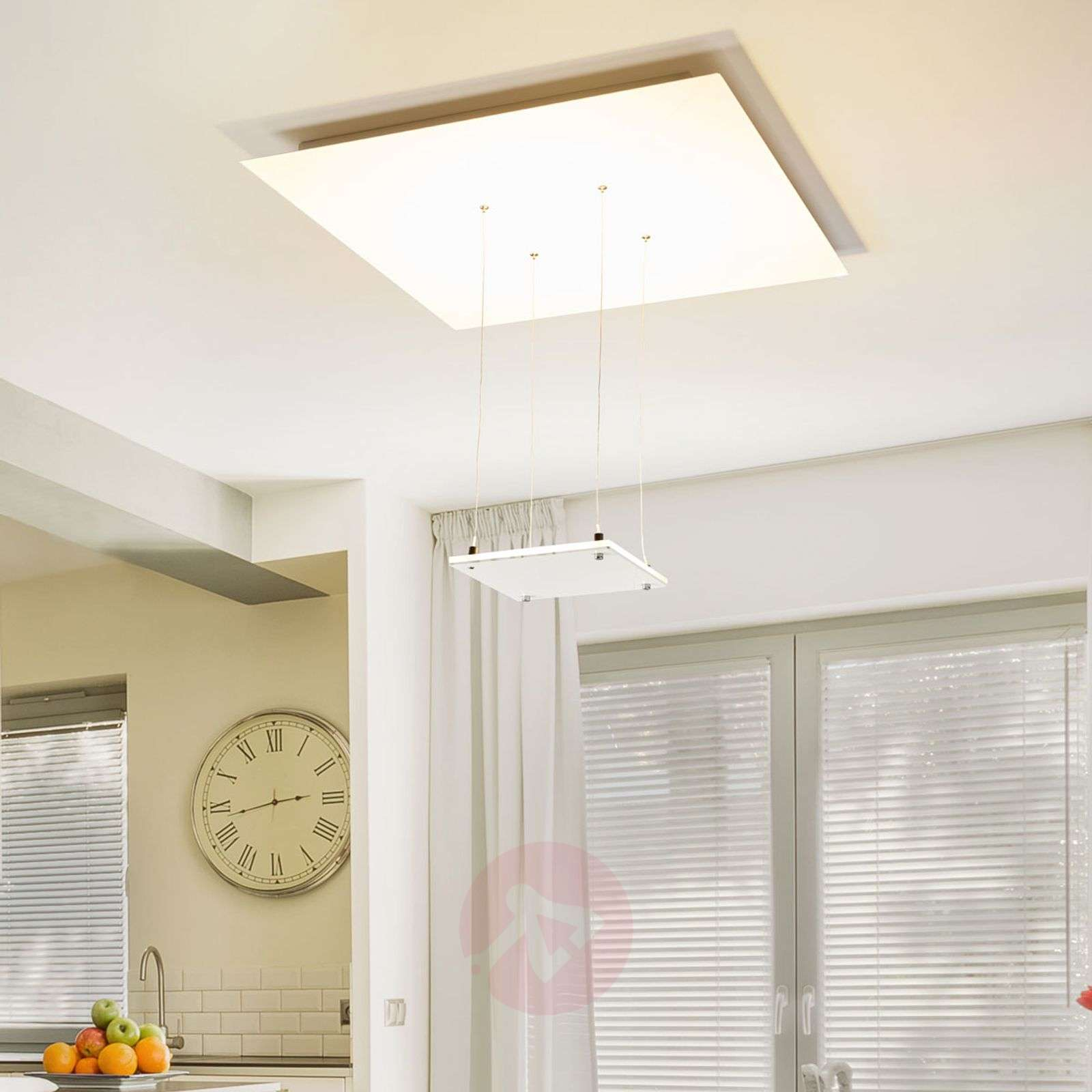 Acquista plafoniera led marlou bianca a luce indiretta for Led luce bianca