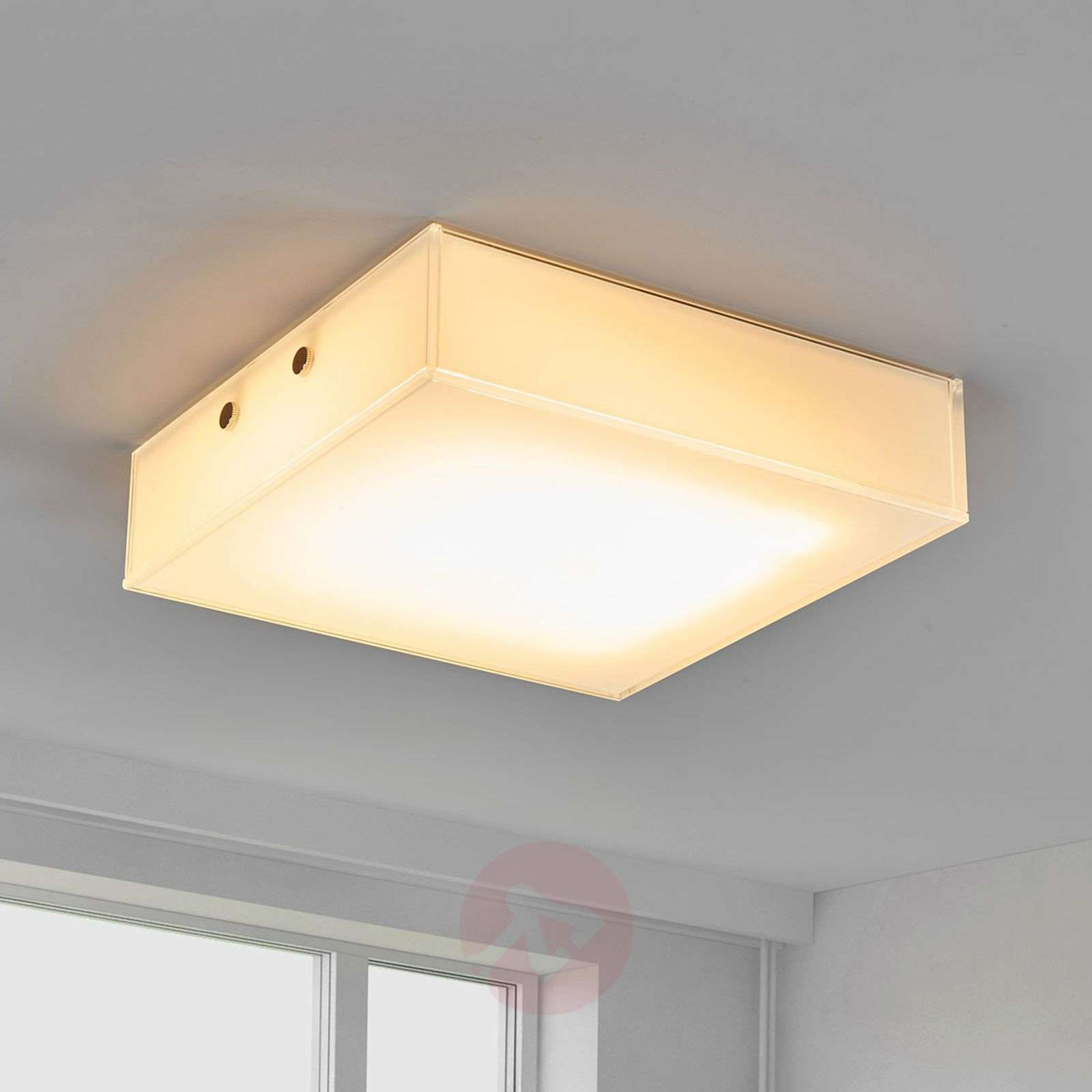 Plafoniere Da Soffitto Classiche : Acquista plafoniera led quadro dal design quadrato lampade.it