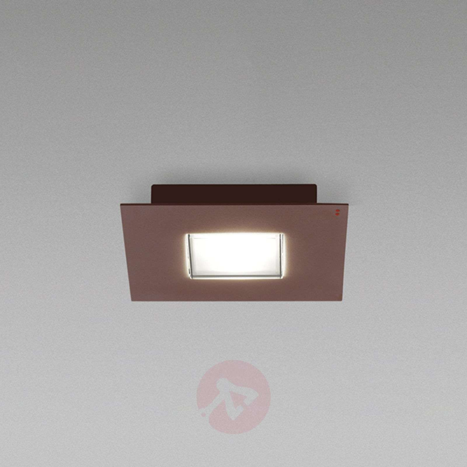 Plafoniere Con Bordo In Legno : Acquista plafoniera led quarter con bordo marrone lampade.it
