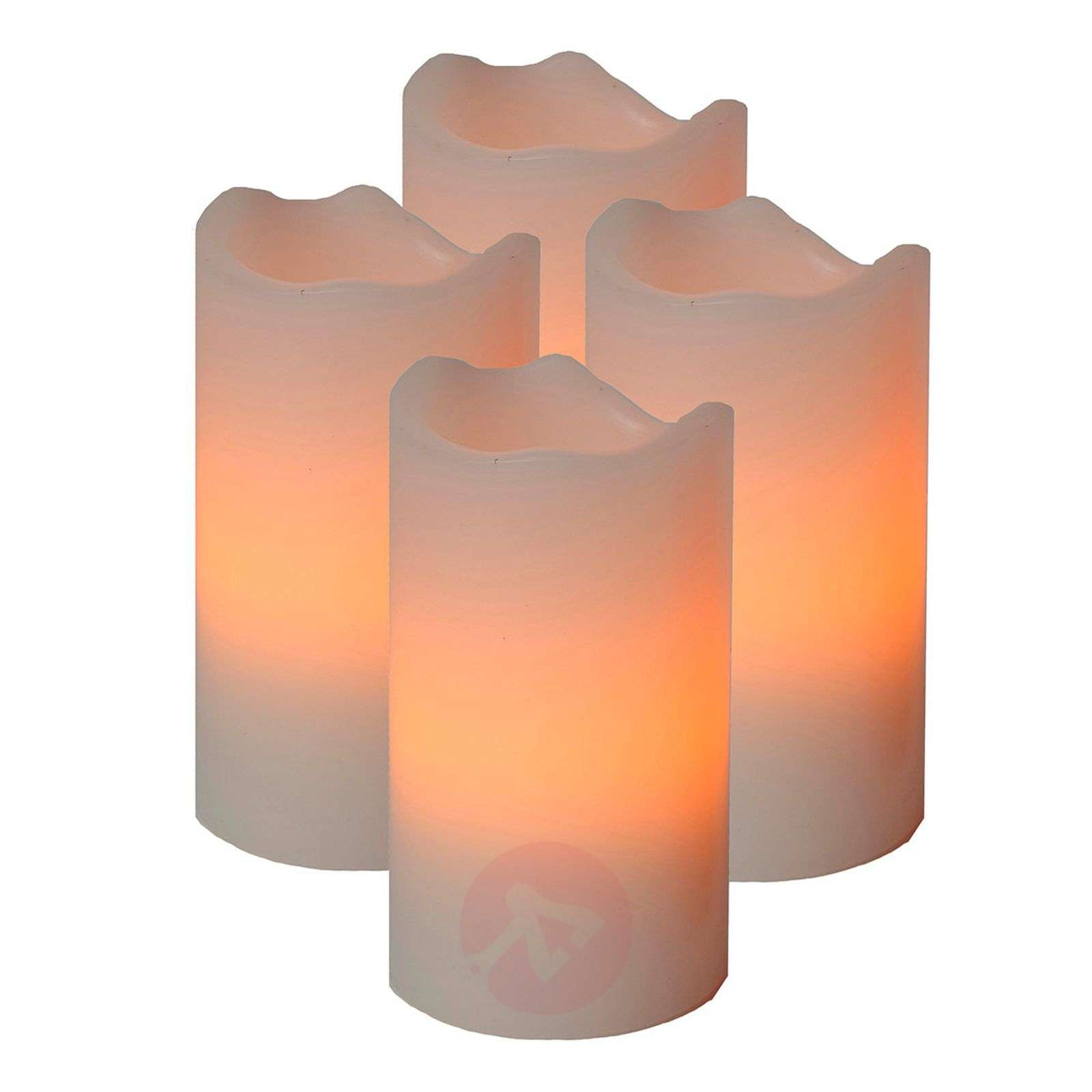 Set di 4 candele LED Candle, telecomando-1522511X-01