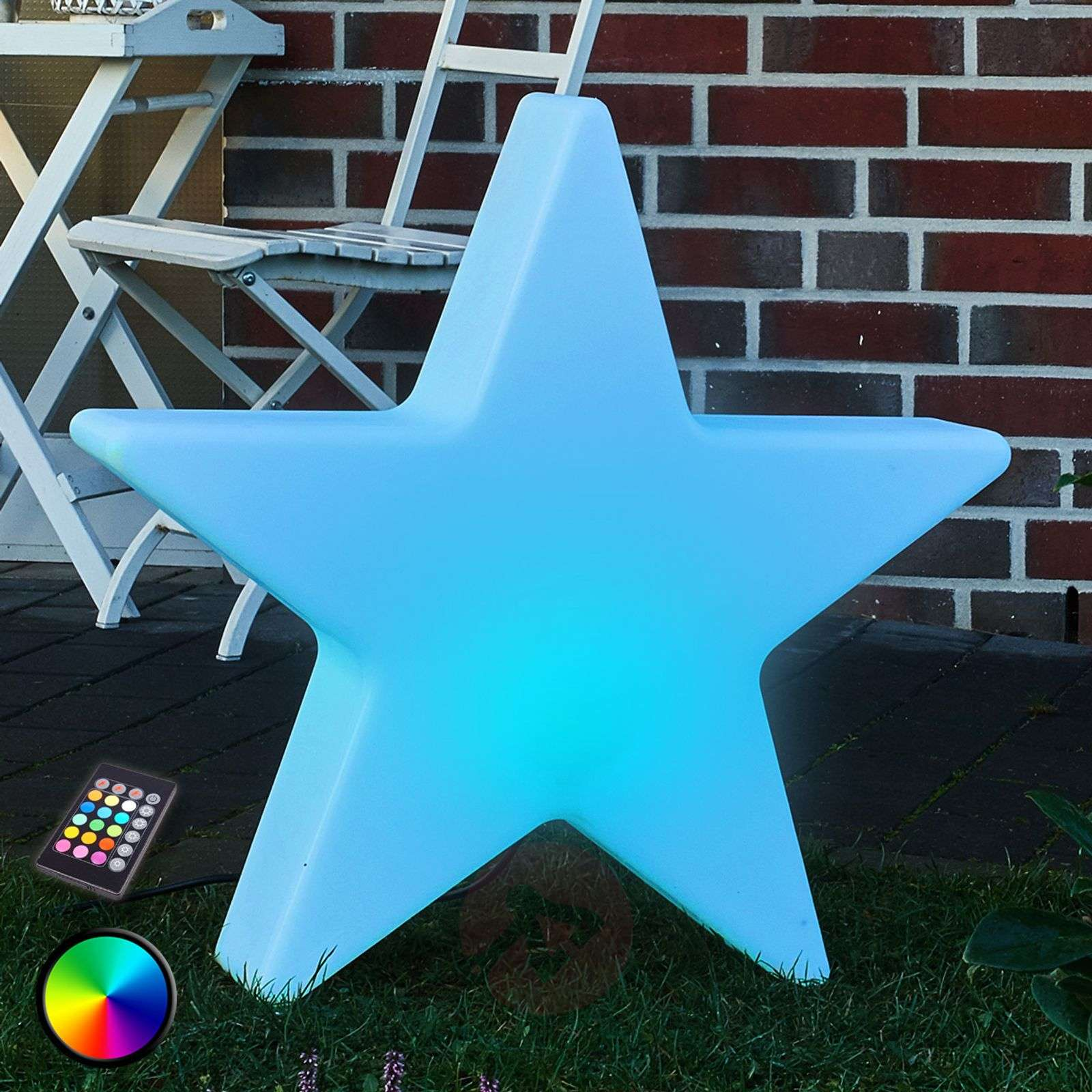 Stella a LED decorativa Shining Star RGB 80 cm-1004082-01