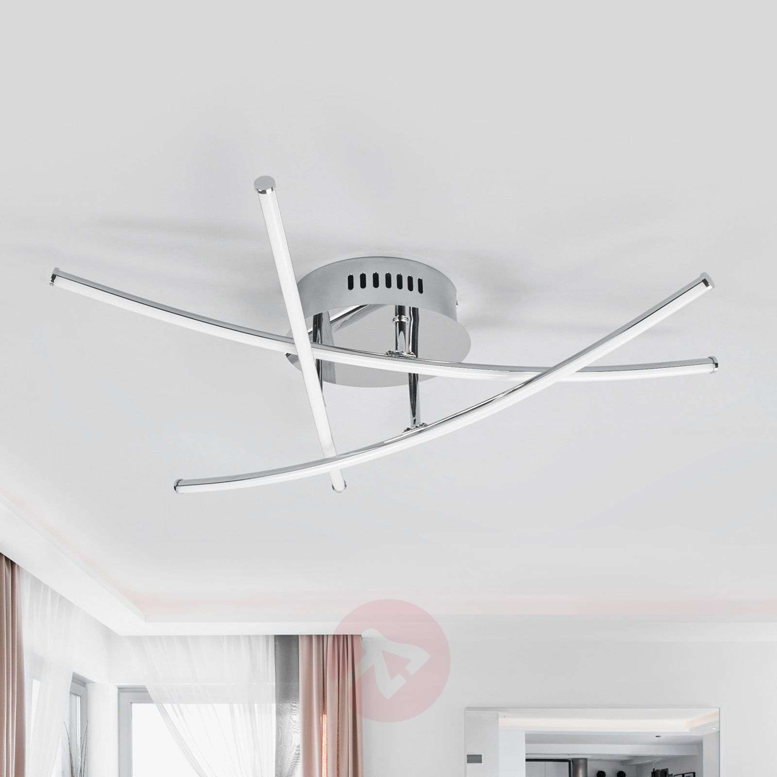 Yael lampada LED da soffitto a barre incrociate-9639007-01