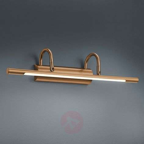 Applique a LED per quadri Lorena in ottone antico