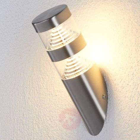 Applique d'acciaio Lanea, inclinata, a LED