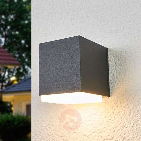 Applique da esterni Ben a cubo, luce downlight