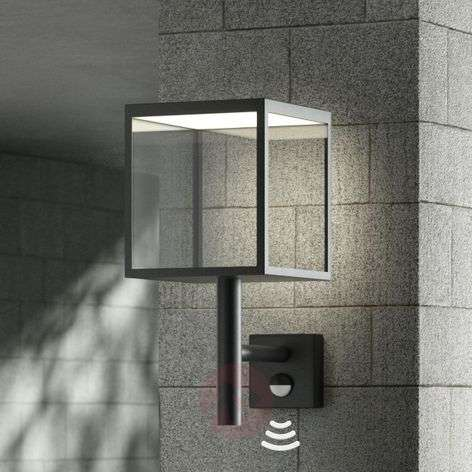 Applique da esterni LED Cube, grafite, con sensore