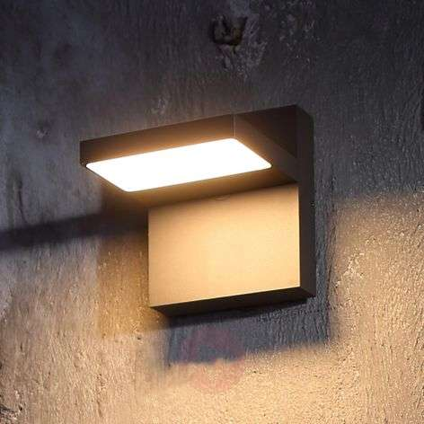 Applique da esterni LED Silvan, grigio scuro