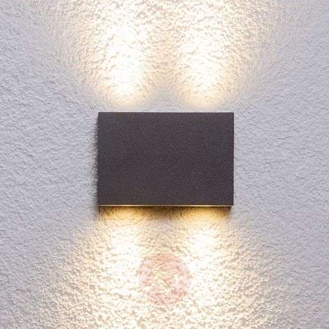 Applique da parete Henor, angolare, con 4 LED