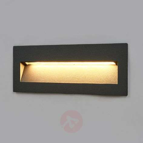 Applique LED Loya grigio scuro, incasso in esterni