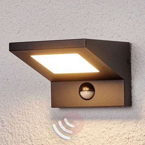 Applique parete Levvon, LED, est., sensore movim.