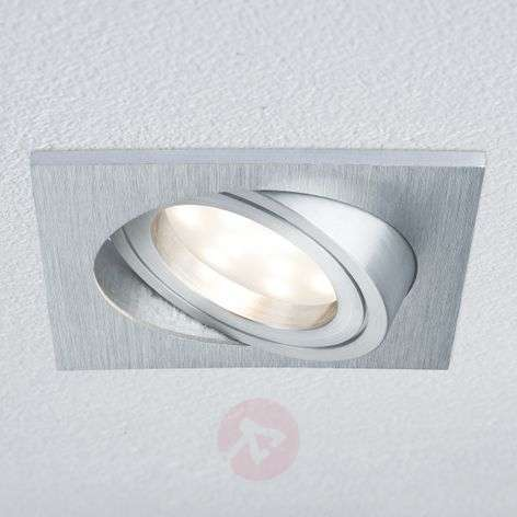 Downlight LED Coin quadrato IP23 alluminio spazz.