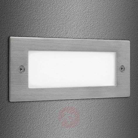 Lamp. incasso a parete Brick LED 16 acc. inox IP44