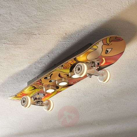 Lampada LED da soffitto Easy Cruiser a skateboard