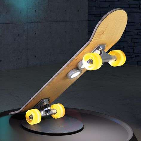 Lampada LED da tavolo Light Cruiser a skateboard