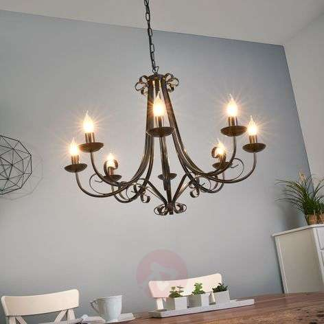 Acquista lampadario roma a 8 luci in stile country - Lampadari cucina country ...