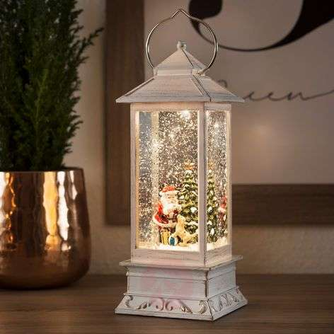 Acquista Lanterna d'acqua LED Babbo Natale con cane  Lampade.it