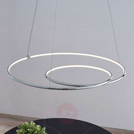 Lindby Lucy sospensione LED, 70cm, cromo