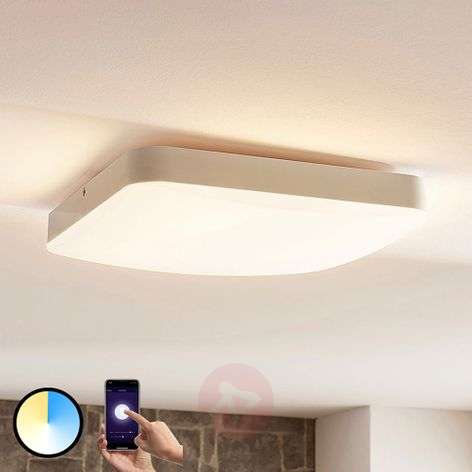 Lindby Smart plafoniera LED Chester, quadrata