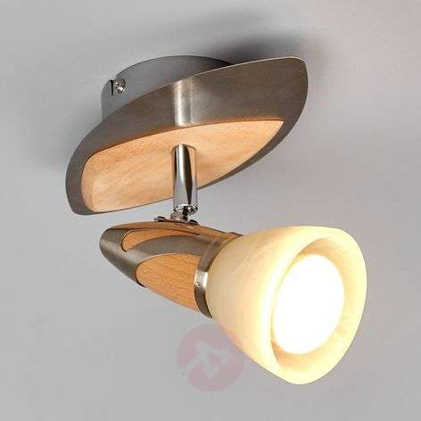 Marena - faretto decorato in legno LED E14 R50