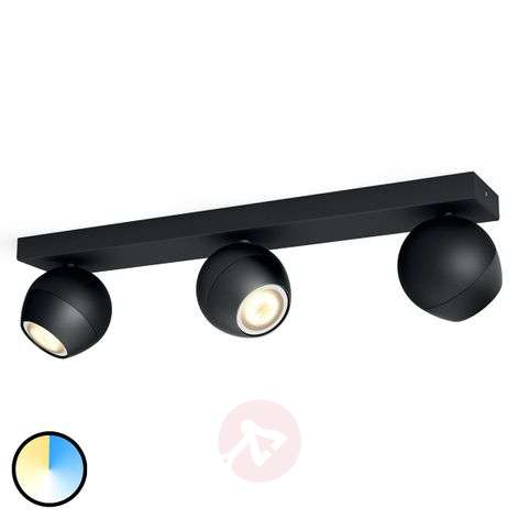 Philips Hue Buckram - triplo spot LED nero