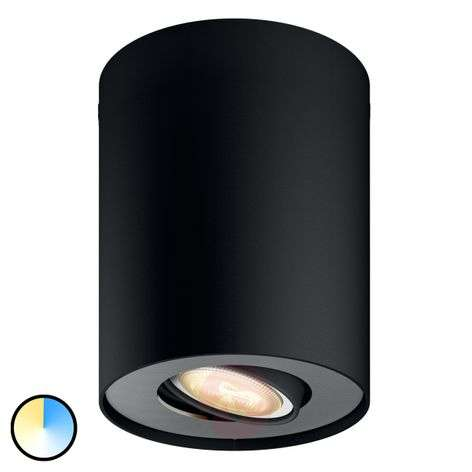 Philips Hue Pillar spot con dimmer, nero